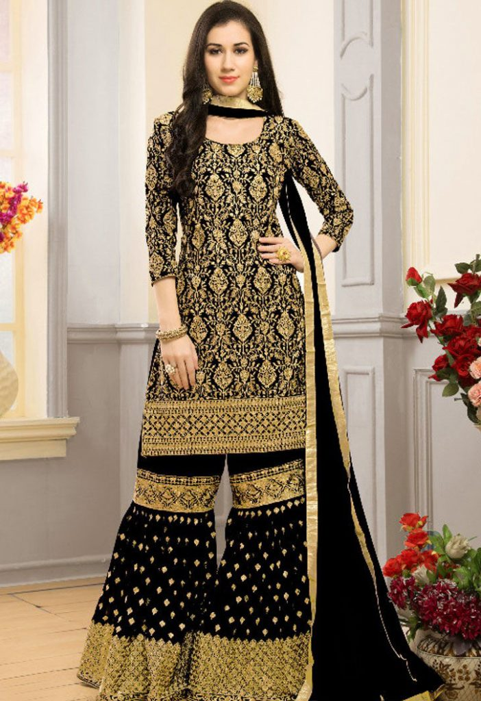Gharara Marriage Party Dresses for Girls