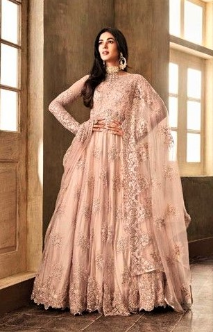 beautiful Long Anarkali Gown Designs for girls