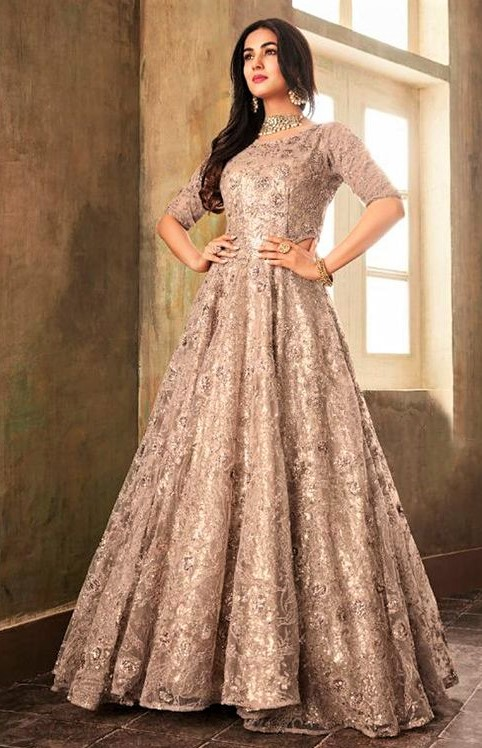 anarkali Latest Design of Gown for Girl Pakistani Dresses
