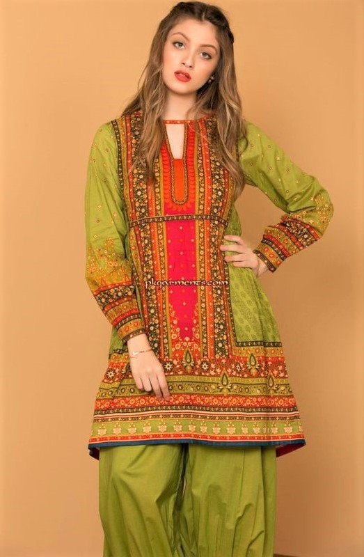 Summer lawn Kurtis Design Pakistani 2019