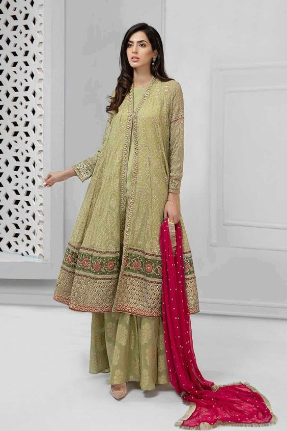 long sleeves Engagement Dresses Pakistani 2019