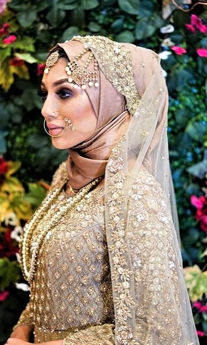 Brides Hijab Dresses for Engagement Party