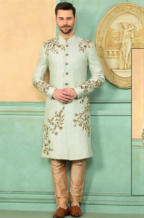 men Engagement Sherwani in summer