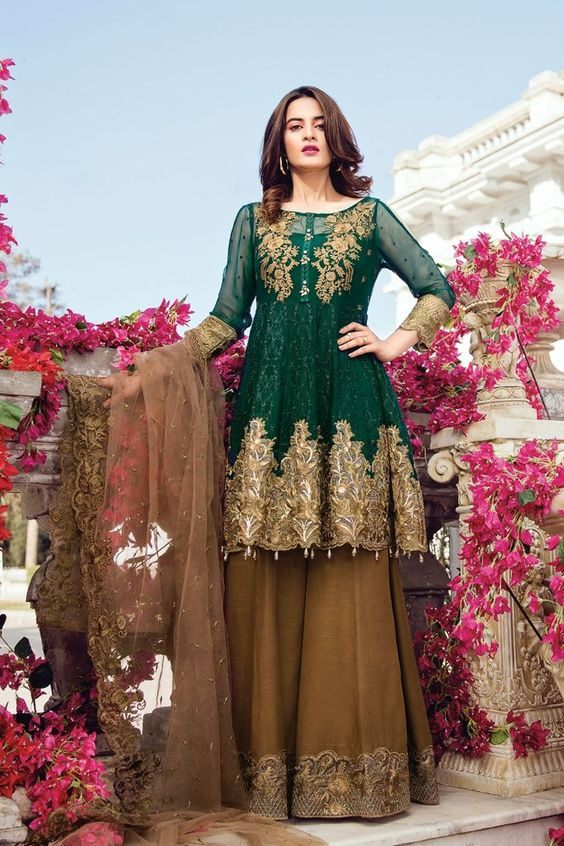 best Latest Bridal Engagement Dresses Pakistani 2019