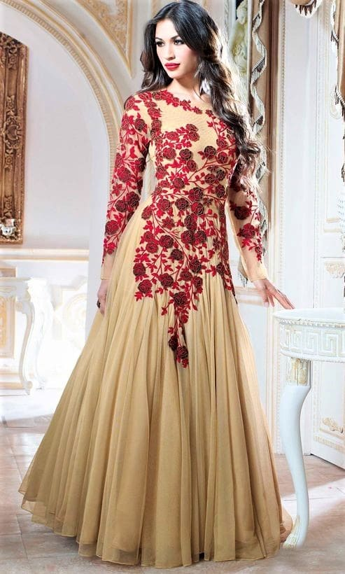 Pakistani Long Frock Designs for Girls