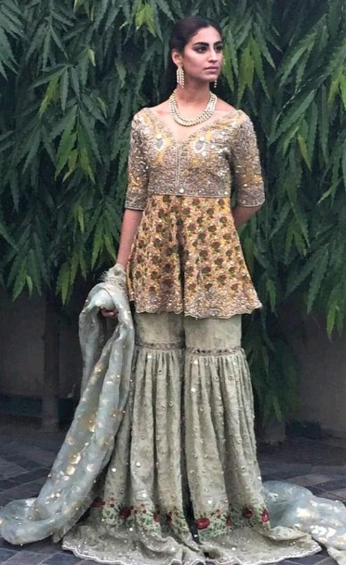 Sharara Short Frocks for Ladies in Pakistan 2019