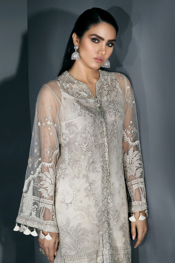 long sleeves Bridal Engagement Dresses Pakistani 2019-2020