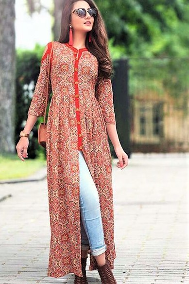 Summer Kurtis Design with jeans