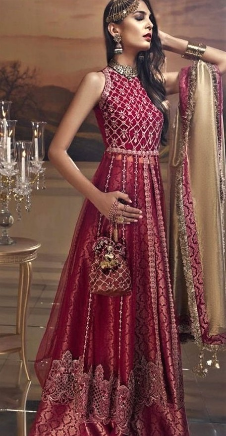 Pakistani Designer Frock Suit