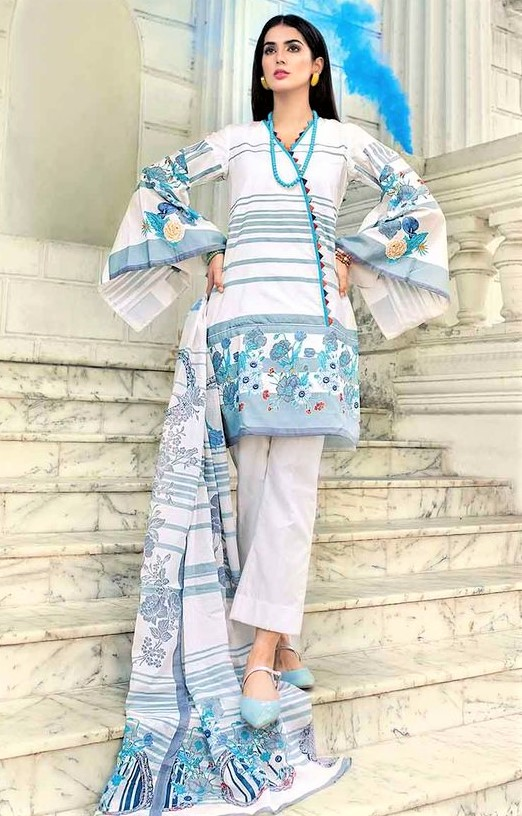 latest Pakistani Lawn Kurti summer designs
