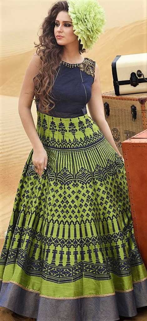 latest-Pakistani Gown Long Frocks Suits
