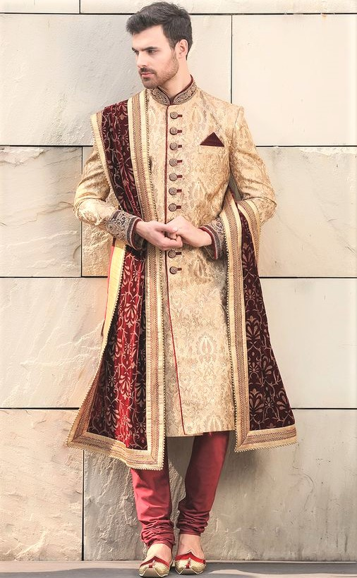latest men Engagement Sherwani in summer