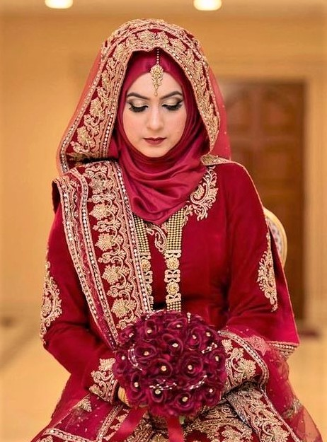 Latest hijab Bridal Engagement Dresses 2019
