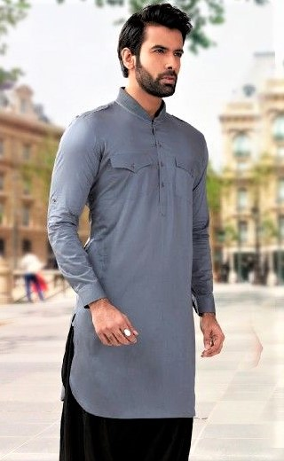 Pakistani Double Pocket Kurta Design