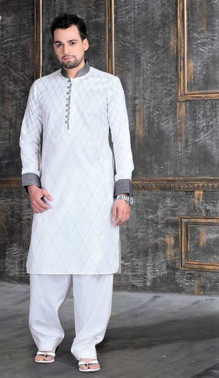 boy cotton kurta design with white color