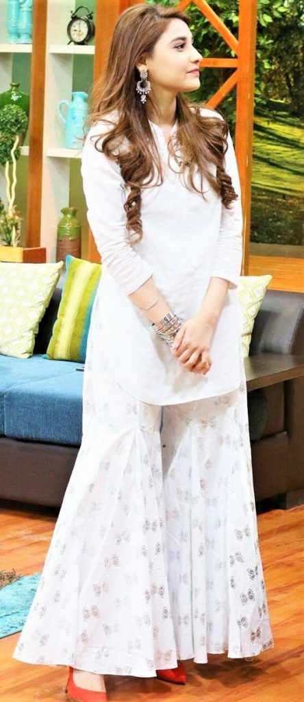 White Bell Bottom Trouser stitching style Pakistani design