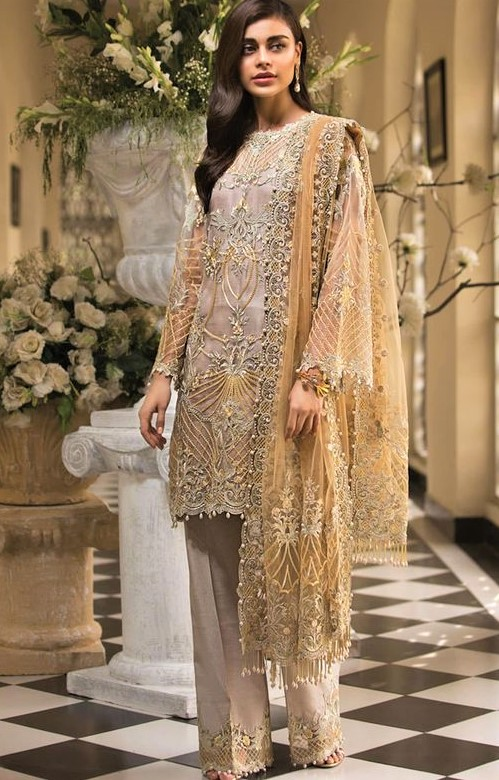 Latest Chiffon Dresses Pakistani 2019 for girls