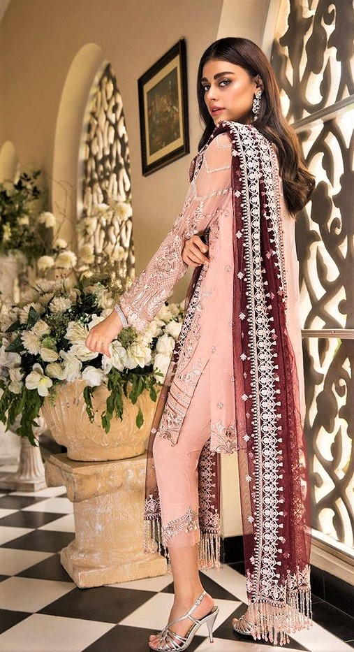 Chiffon Lace Wedding Dress 2019 pakistani