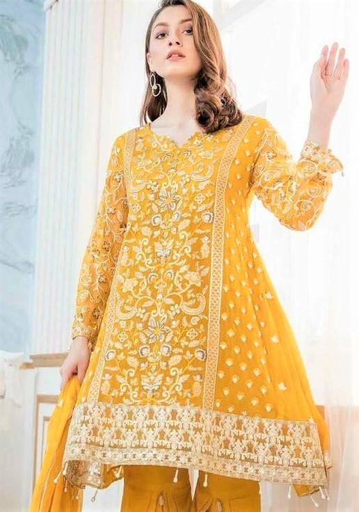Peplum Yellow shirt Best Suit Stitching Style