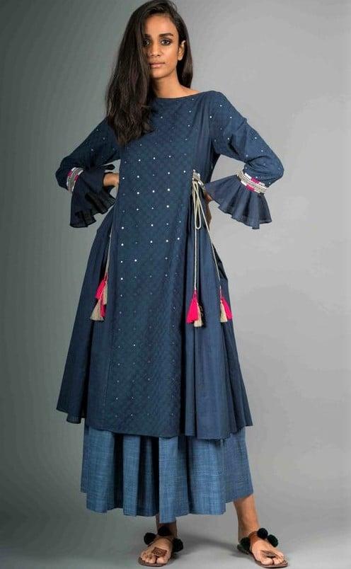 stitching patterns for tops Pakistani smoke