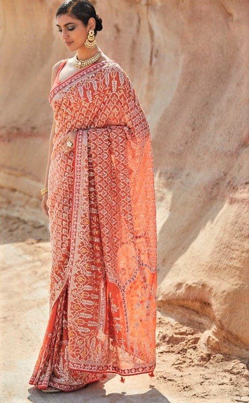 Banarasi Saree Chiffon Dresses Pakistani 2019 Wedding