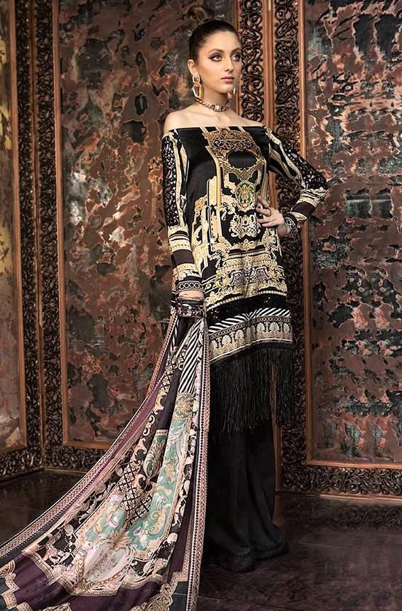 Maria B Silk Winter Collection 2019 Dresses Designs