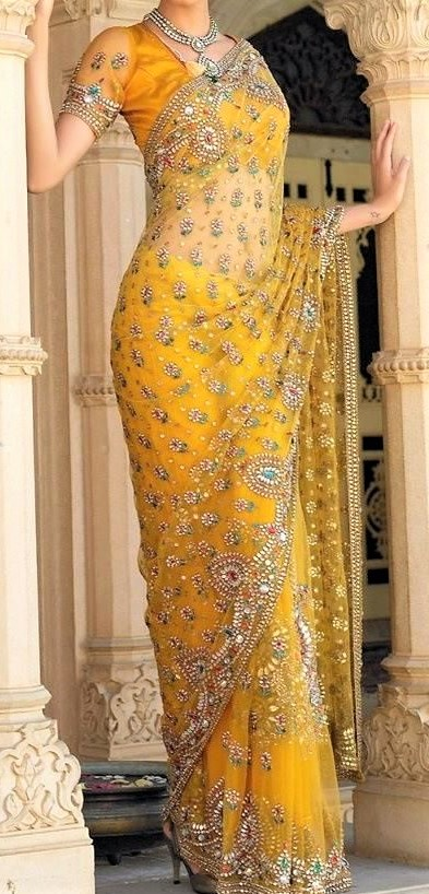 embroidery Banarasi Saree for wedding