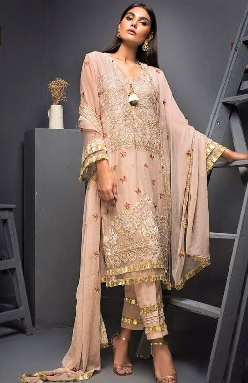 beat Lace Chiffon Dresses Pakistani