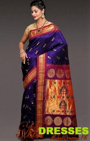 Latest Bridal Silk Saree for Wedding Party