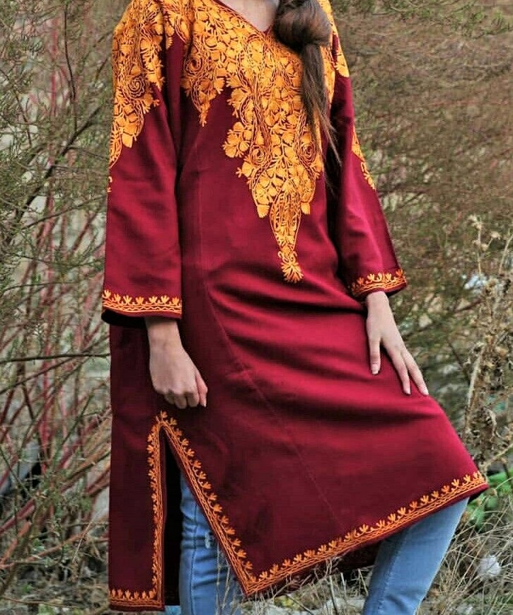 kashmiri dress phiran for girls