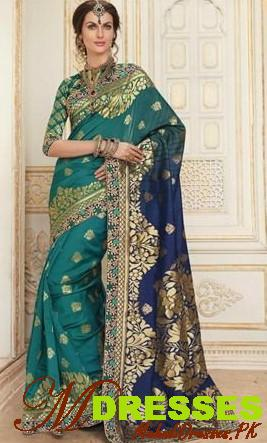 Latest traditional Bridal Silk Saree