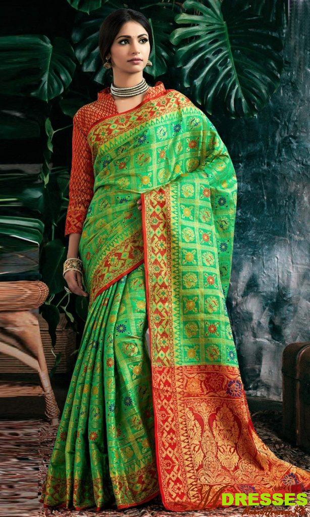 Saree Embroidery Designs for wedding party