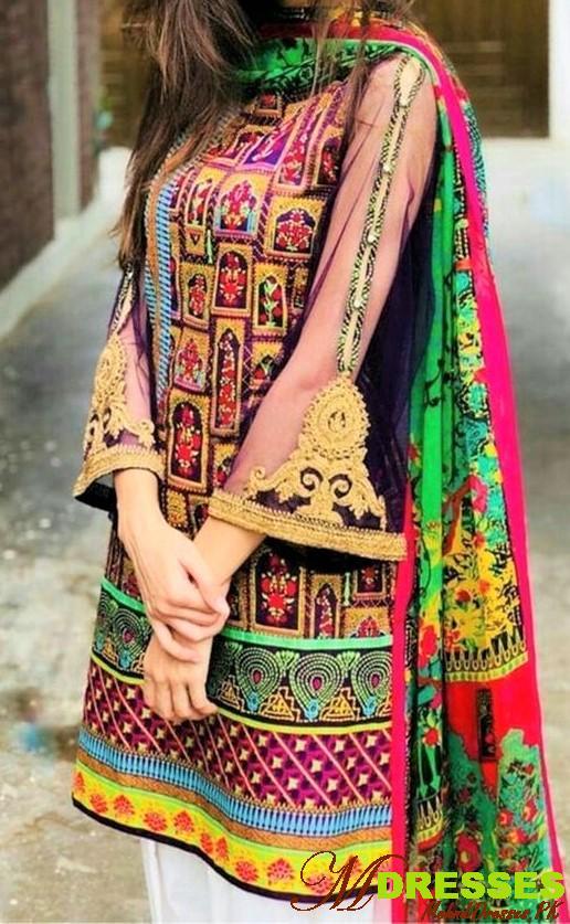 Balochi embroidery kurta