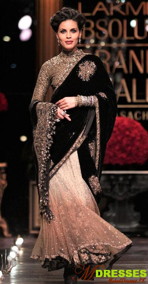 best gold and black Saree Color Combinations for wedding