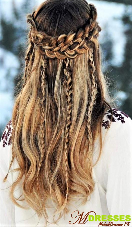 simple Winter Hairstyles For Girls