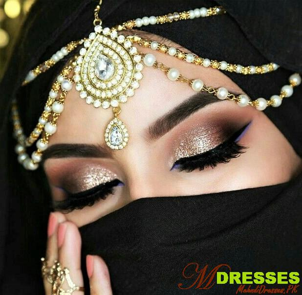 Hooded Arabic Eyes Makeup Look Style for Wedding