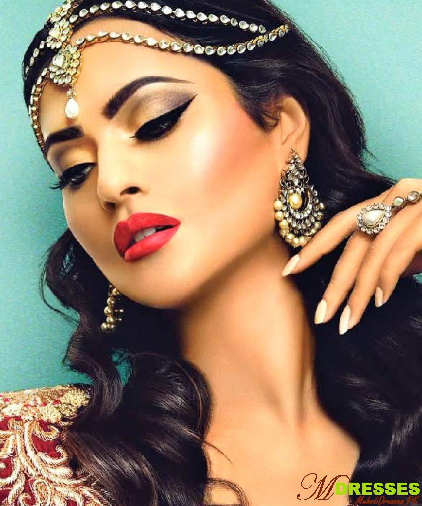 dramatic arabic makeup for wedding