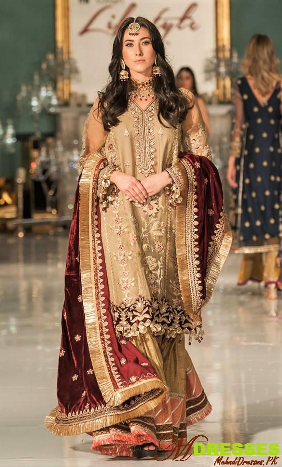 Saadia Asad kurta sharara at life style london