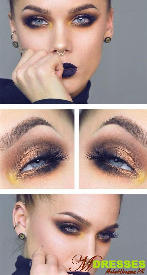Soft glam Arabic Eyes Makeup Look Style for Wedding