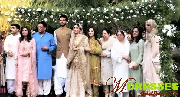 zainab abbas family picture on wedding