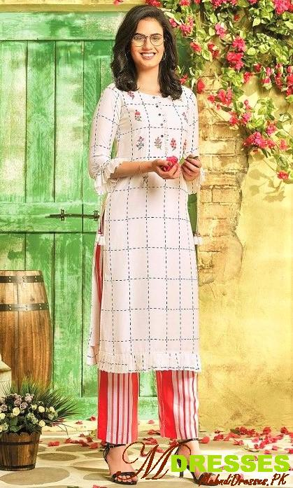 Woolen Long Kurti Designs for girls