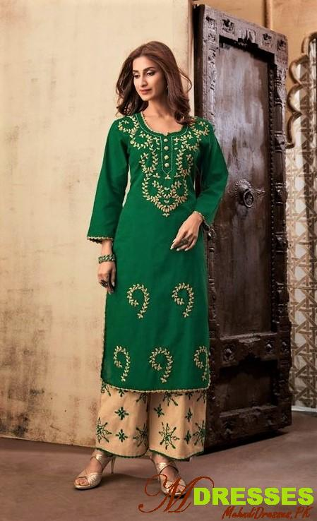 Fancy embroidery kurtis Pakistani for wedding