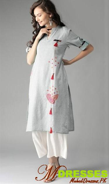 long kurti style in winter