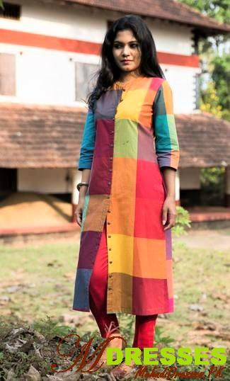 Multi color Winter Kurtis for girls