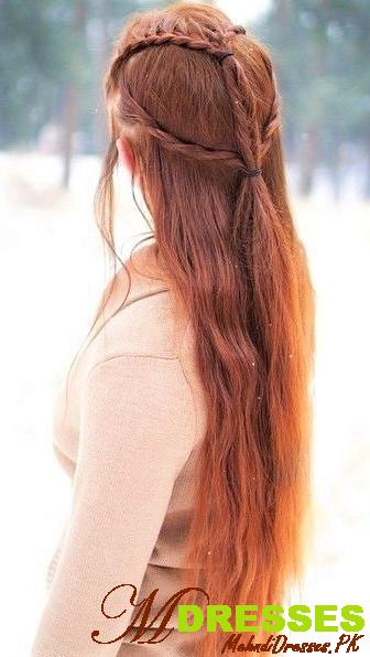 Simple winter hairstyle naturally