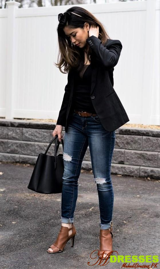 Winter Tops for Girls With black Jeans