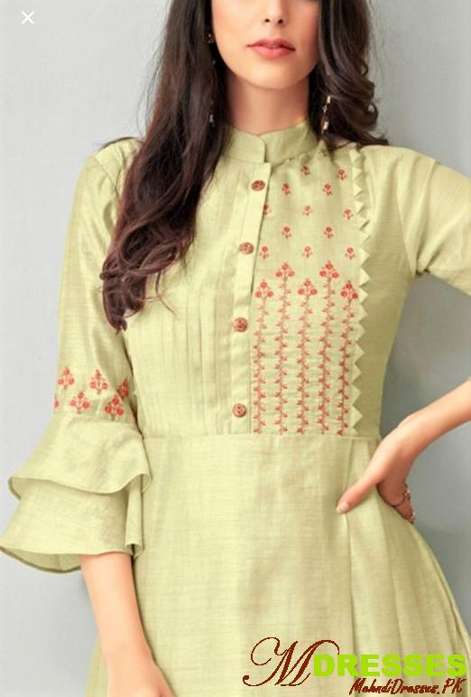 woolen embroidery kurti fancy design for women