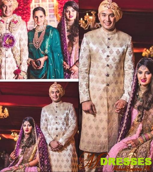 Sania Mirza Sister Anam Mirza Wedding Dress Designs pictures
