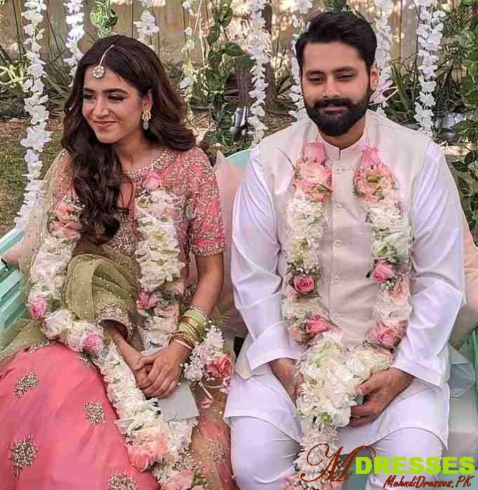 Mansha Pasha Husband Jibran Nasir Engagement Wedding Dresses