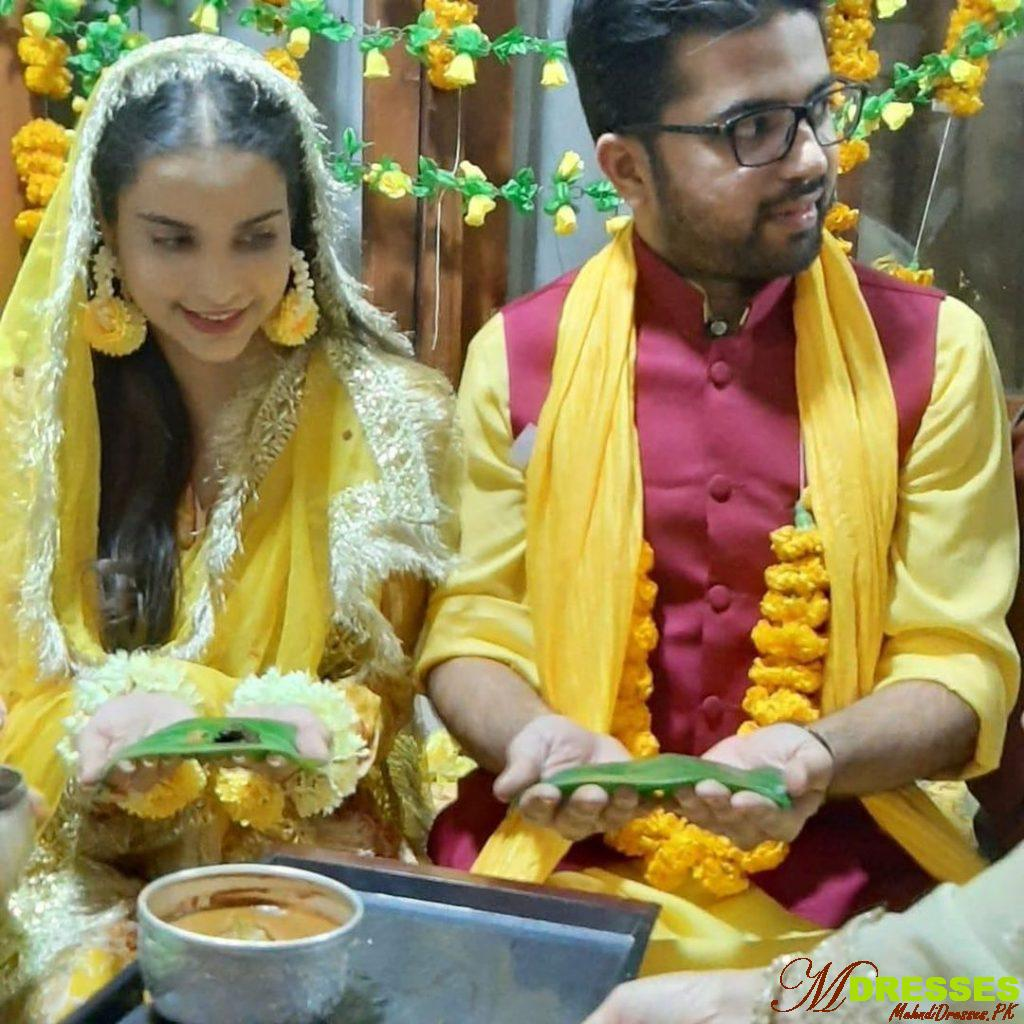 Sana Sarfraz beautiful yellow dress pic